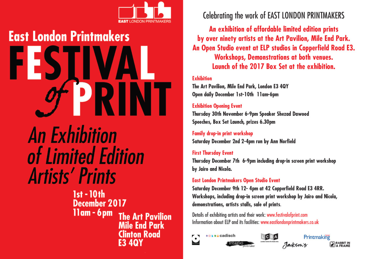 FESTIVAL OF PRINT 2017 | Printmakers Council